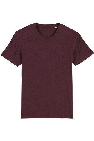 Men Boxer Shorts - Organic Red Cotton Men's Grape Marl T-Shirt Large British Boxers