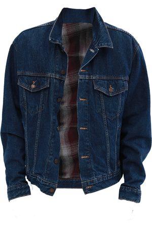 Men's Artisanal Blue Wool Customised Vintage Levis Denim Jacket Medium Quillattire