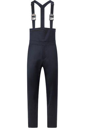 Men Dungarees - Men's Artisanal Blue Wool Overall 33in SAINT E
