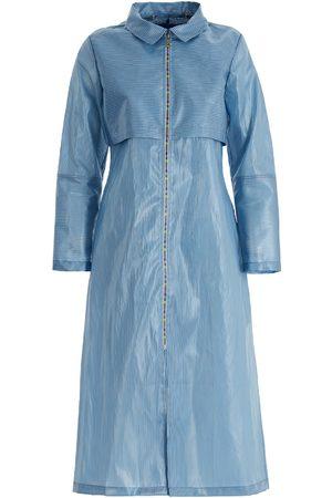Women's Artisanal Blue Iceberg Raincoat Medium Boo Pala