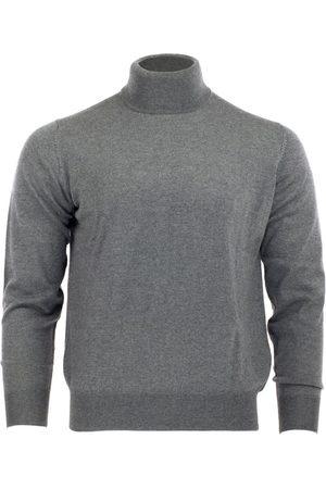 Men's Grey Wool Merino Turtleneck - Steel Gray Large Romeo Merino
