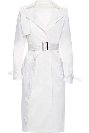 Women Trench Coats - Women's White The Trench XL Hilary MacMillan