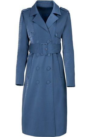 Women Trench Coats - Women's Blue Velvet The Billie Trench Medium Hilary MacMillan