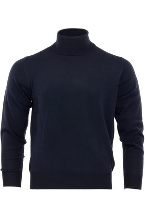 Men's Blue Wool Merino Turtleneck Peacoat Medium Romeo Merino