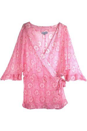 Women's Pink Silk Lotty B Kimono Medium Pink House Mustique