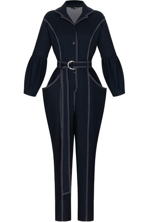 Women Pants - Women's Navy Fabric Kioto Small MONOSUIT