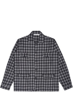 Artisanal Grey Wool Sarge Women's Jacket - Checked Tweed XS LaneFortyfive