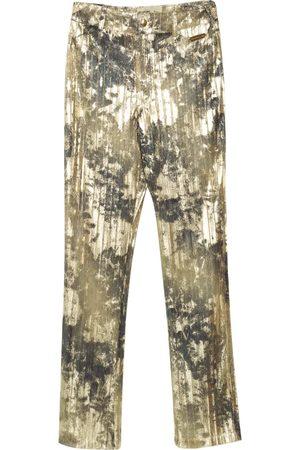 Women's Gold en Girl Pants Medium Paloma Lira