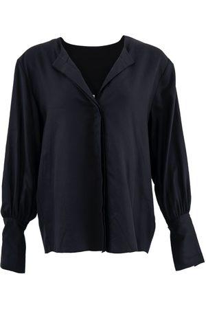Women Long sleeves - Women's Organic Black Tencel Cap Ferret ™ Long Sleeves Shirt Small 1 People