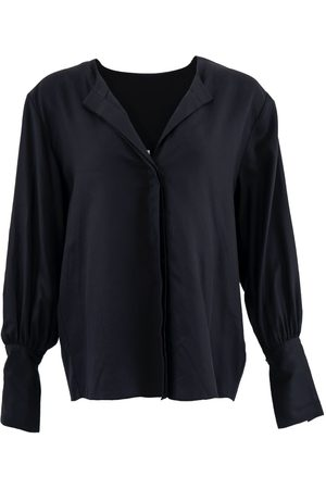 Women's Organic Black Tencel Cap Ferret ™ Long Sleeves Shirt Large 1 People