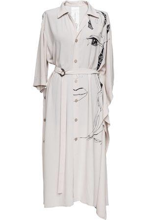 Women's Artisanal White Mona Dress Medium ARTISTA