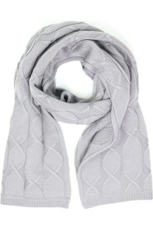 Men's Grey Wool Merino Cable Knit Scarf - Mid-Gray Romeo Merino