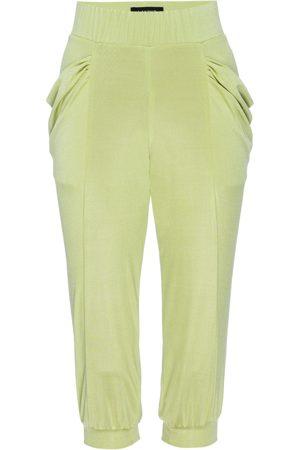 Women's Artisanal Yellow/Orange Silk Capri Limoncello Leisure Pant XL LAHIVE