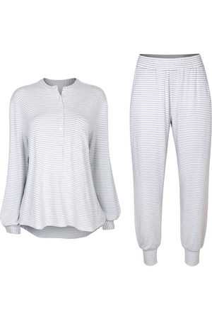 Women Sweats - Women's Cruelty Free Ecru Fabric Seafoam Sleep Set Small Luxe + Hardy