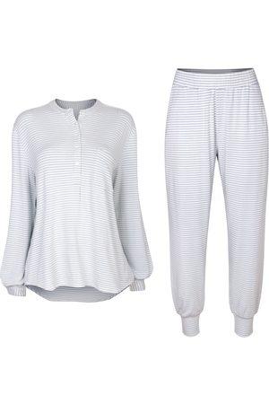 Women Sweats - Women's Cruelty Free Ecru Fabric Seafoam Sleep Set XS Luxe + Hardy
