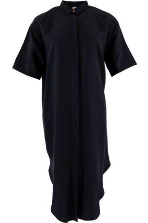 Women's Organic Black Tencel Seville ™ Oversized Midi Dress Large 1 People