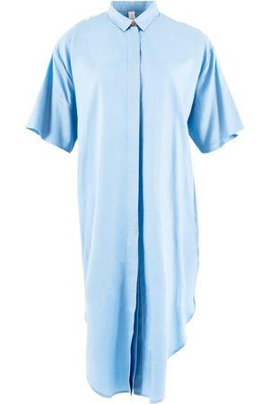 Women Casual Dresses - Women's Organic Blue Tencel Seville ™ Oversized Midi Dress Medium 1 People
