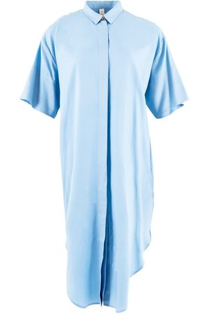 Women's Organic Blue Tencel Seville ™ Oversized Midi Dress Small 1 People