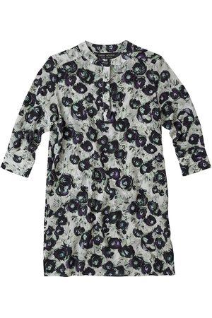 Women Casual Dresses - Women's Artisanal Black Silk Shirt Dress Large Lindsay Nicholas New York