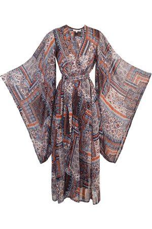 Women Kimonos - Women's Artisanal Red Cordelia Kimono Medium Jennafer Grace