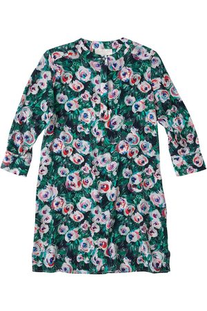 Women's Artisanal Pink Silk Shirt Dress Medium Lindsay Nicholas New York