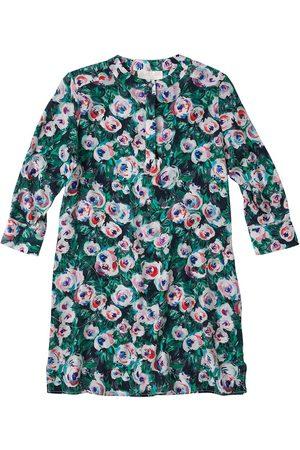Women's Artisanal Pink Silk Shirt Dress XS Lindsay Nicholas New York