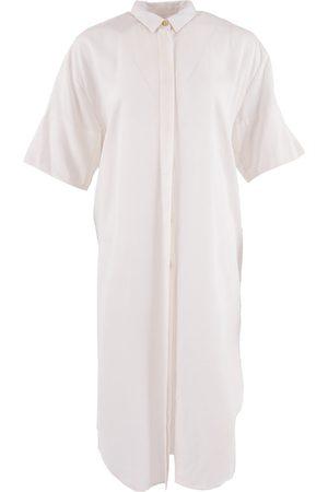 Women's Organic White Tencel Seville ™ Oversized Midi Dress Medium 1 People