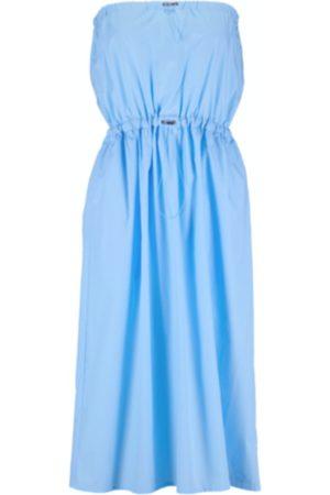 Women Strapless Dresses - Women's Natural Fibres Blue Cotton Elle Dress Large ExtraAF