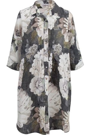 Women's Low-Impact Black Cotton Journey Linen Shirt Dress Romance XL Wallace Cotton