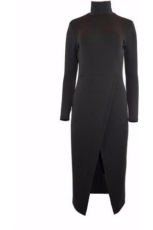 Women Sweats - Women's Black Tencel Cross Over Lounge Top Medium Hilary MacMillan