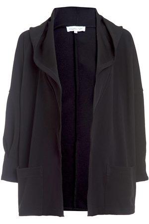 Women's Vegan Black Fabric 24/7 Hooded Cape - The Mercer Small DuetteNYC