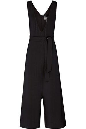 Women Jumpsuits - Women's Recycled Black Modal Mollie Jumpsuit Large KOMODO
