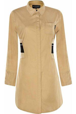 "Women Casual Dresses - Women's Natural The ""Duty"" Shirt Dress Large Whyte Studio"