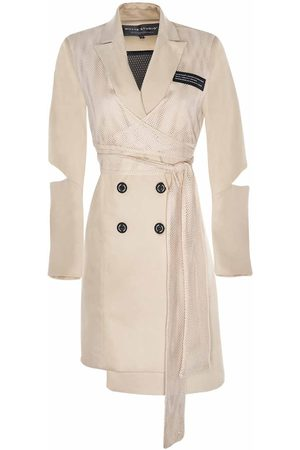 "Women's Natural Fabric The ""Back Up"" Sports Wrap Blazer Dress - Nude Medium Whyte Studio"