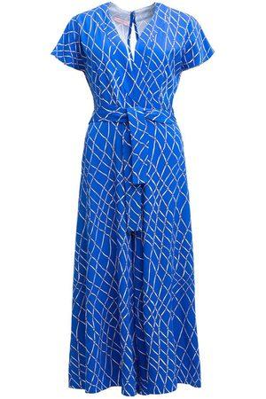 Women's Artisanal Blue Viza Jumpsuit - Fishnet Small Tomcsanyi