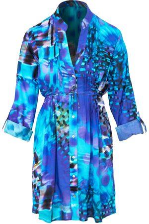 Women's Artisanal Blue Cotton Saint Vincent Dress Medium Cosel