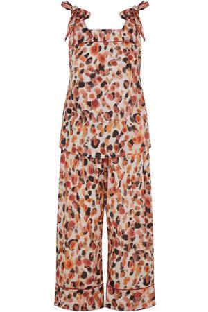 Women Sweats - Women's Cotton Bow Organic Cami Set - Dot Small Moon + Mellow