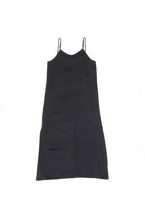 Women's Organic Black Silk Calabar Slip Dress In XL 1 People