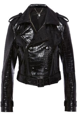 Women Leather Jackets - Women's Black Leather Faux Biker Jacket XS Nissa
