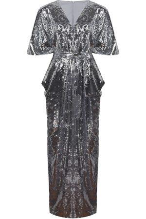 Women's Silver Nalè - Wide Leg Sequin Palazzo Jumpsuit XXL NALÈ