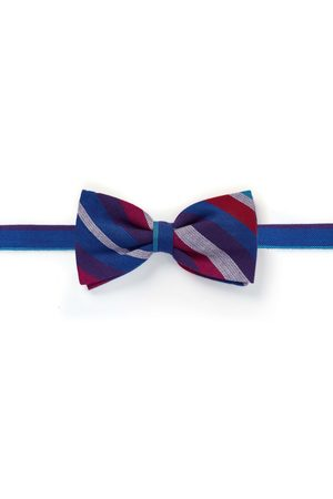 Men's Low-Impact Pink/Purple Fabric Kamba Bow Tie (Clip-On) KOY Clothing