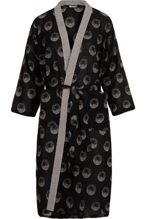 Women's Artisanal Black Cotton The Astraea Gown Medium Antra Designs