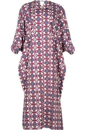 Women Tunic Dresses - Women's Artisanal Cotton Moroccan Style Kaftan Dress Alya XL/XXL AZOiiA