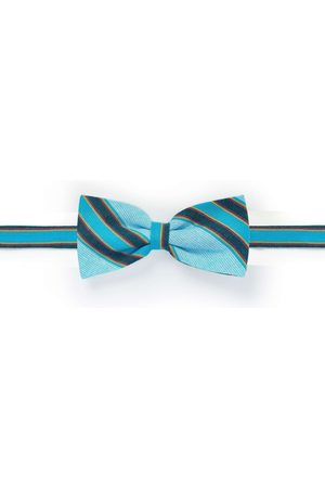 Men's Low-Impact Blue Fabric Luo Clip-On Bow Tie KOY Clothing