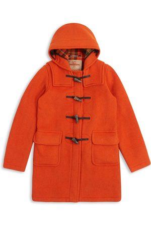Artisanal Orange Wool Women's Water Repellent Duffle Coat Small Burrows & Hare