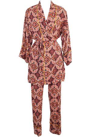 Women's Artisanal Pink/Purple Linen Cardamom Paglamas XXL Jennafer Grace