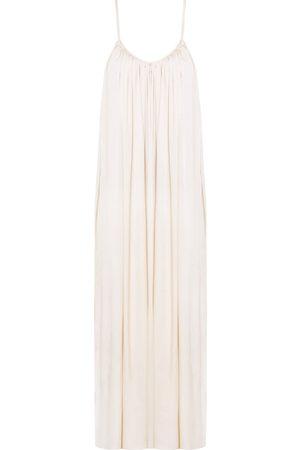 Women Casual Dresses - Women's Artisanal Natural Cotton Lucia Flowing Maxi Slip Dress XS/S unlined