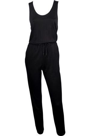 Women's Artisanal Black Fabric False Alarm Draw Cord Waist Jumpsuit Large Me & Thee