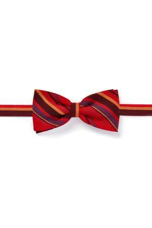 Men Bow Ties - Men's Low-Impact Red Fabric Mara Bow Tie - Clip-On KOY Clothing