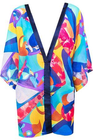 Women Kimonos - Women's Aulala X Risbo Artistic Beachwear Kimono - Enchanted M/L Aulala Paris